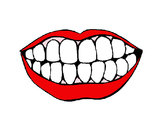 Desenho Boca e dentes pintado por thaer