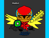 Desenho Huitzi pintado por hygor100