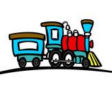 Desenho Trem com vagão pintado por MiguelAl