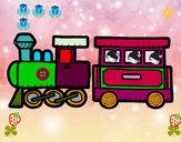 Desenho Trem alegre pintado por japali