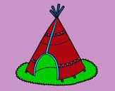 Desenho Cabana indiana pintado por NAVICTORIA