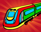 Desenho Comboio de alta velocidade pintado por Thi1307