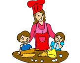 Desenho Cozinheiro mamã  pintado por FABY_BYBA