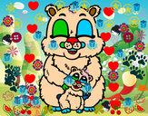 Desenho Mamã urso pintado por cauabarao