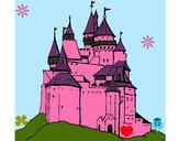 Desenho Castelo medieval pintado por sandramara