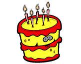 Desenho Bolo de aniversário 2 pintado por lauritita