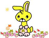 Desenho Art o coelho pintado por isad