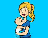 Desenho Em braços da mãe pintado por RafinhaJR