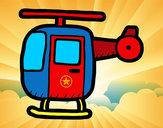 Desenho Helicóptero ligeiro pintado por luzinda