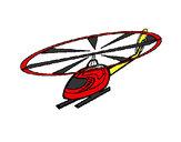 Desenho Helicóptero pintado por luzinda