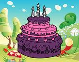 Desenho Torta de Aniversário pintado por sarahlari