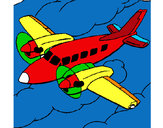 Desenho Avioneta pintado por luzinda