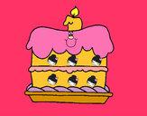 Desenho Bolo de aniversário pintado por adils