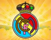 Desenho Emblema do Real Madrid C.F. pintado por Eduardocor