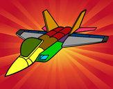 Desenho Avião caça pintado por joaoarthur