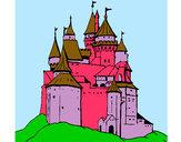 Desenho Castelo medieval pintado por miim