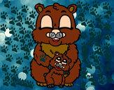 Desenho Mamã urso pintado por miim