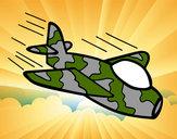 Desenho Avião da camuflagem pintado por jo20