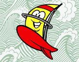 Desenho Prancha windsurf feliz pintado por daniel12