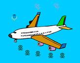 Desenho Avião de passageiros pintado por NAGIB