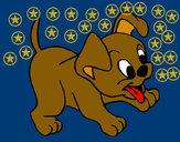 Desenho Cachorro pintado por anabeli