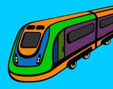 Desenho Comboio de alta velocidade pintado por NAGIB