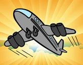 Desenho Aeroplano rápido pintado por daniel12