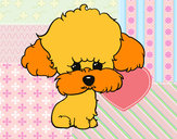 Desenho Cachorro de poodle pintado por Lins