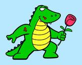 Desenho Dragão apaixonado pintado por gyovanna