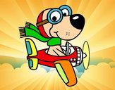 Desenho Cachorro aviador pintado por lucasjose