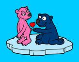 Desenho Casal de ursos apaixonados pintado por abhigha
