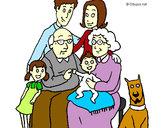Desenho Família pintado por Salette