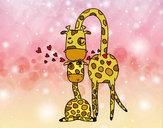 Desenho Mamã girafa pintado por ImShampoo