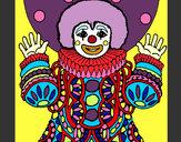 Desenho Palhaço disfarçado pintado por GP_Premium