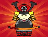 Desenho Samurai chinês pintado por Clark