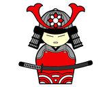 Desenho Samurai chinês pintado por Gringo