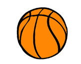 Desenho Bola de basquete pintado por guicambez