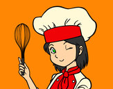 Desenho Cozinheira pintado por Gabyybra