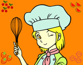 Desenho Cozinheira pintado por MParacampo