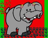 Desenho Elefante 6 pintado por SophiaSlo