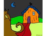 Desenho Os três porquinhos 6 pintado por luzinda