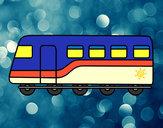 Desenho Trem de passageiros pintado por ImShampoo