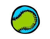 Desenho Bola de basebol pintado por inforof