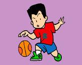Desenho Menino a chutar a bola pintado por ImShampoo