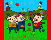 Desenho Os três porquinhos 5 pintado por RAFAELMOTA