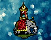 Desenho Taxi-elefante pintado por ImShampoo