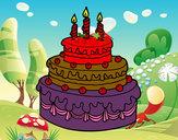 Desenho Torta de Aniversário pintado por RAFAELMOTA
