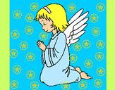 Desenho Anjo a orar pintado por leil