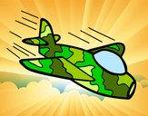 Desenho Avião da camuflagem pintado por luzinda