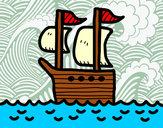 Desenho Barco no alto-mar pintado por daniel12